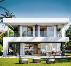 In this case, we wondered which are the most beautiful modern homes that are built. Modern Exterior House Designs, Best Modern House Design, Modern Villa Design, Dream House Exterior, Modern Architecture House, Modern House Plans, Exterior Design, Architecture Design, Home Modern
