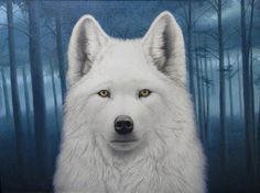 Tom Palmore, White Wolf, oil/acrylic, 30 x - Southwest Art Magazine Animal Paintings, Animal Drawings, Cat Perch, Wolf Pictures, Spirited Art, Wolf Spirit, Philadelphia Museum Of Art, Southwest Art, White Wolf