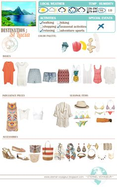 Eternel Voyageur: WHAT TO PACK St. Lucia