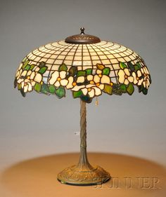 Bigelow & Kennard Table Lamp   Mosaic art glass and bronze   Boston, Massachusetts, c. 1910