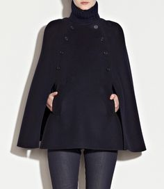 black cape---I want one for this winter!