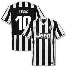 Camiseta de la Juventus 2013-2014 Local + Tevez 10 (Estilo Fan)