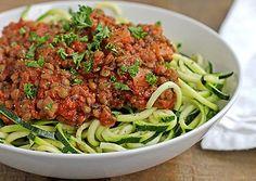 Zucchini Spaghetti with Easy Lentil Marinara - Natural Vitality Living #zucchini #spaghetti #marinara #vegan #paleo #lentils #wholefood