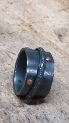 Rivet Spinner Ring Sterling Silver with copper rivets Meditation ring Worry ring, makes a nice gift Meditation Rings, Envelope Design, Spinner Rings, Handmade Rings, Sterling Silver Rings, Best Gifts, Rings For Men, Copper, Wedding Rings
