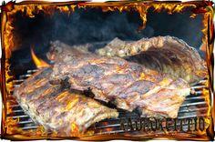 Arki-illan ribsit uunissa + grillissä.