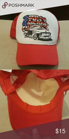 Vintage trucker hat red white and blue O'Neill 'keep on truck in' hat.  Excellent condition adjustable mesh back O'Neill Accessories Hats