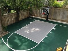 26x35 Backyard Court by Total Sport Solutions. Height adjustable basketball goal allows kids of all ages to play. Active kids. Active Families!