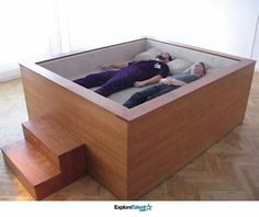 Sonic Bed with Speakers - It allows you to sink into the bed and fall into a trance like state listening to music or low base frequencies that flow trough your body!