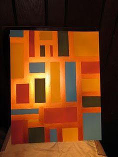 Easy geometric painting -- DIY art