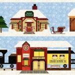 Holiday Snow Village Closeup 2