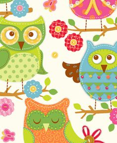 owls (illustrator unknown)