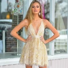 6c667a1606f0 Glitter Floral Ivory/Gold Formal Dress from Cousin Couture. Gold Formal  Dress, Formal