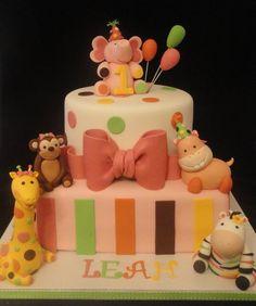 Sweet Safari 1st Birthday Cake  By Katiecakeshouston CakesDecorcom