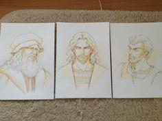 Leonardo da Vinci, Cesare Borgia, Michelangelo Buonarrotti by Fuyumi Soryo.