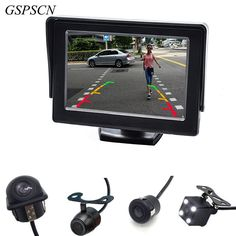 """Car Auto Parking Assistance CCD Rear View Camera With Auxiliary Guiding Line Backup Parking + HD 4.3""""Color LCD Car Monitor"""