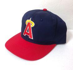 rare vtg CALIFORNIA ANGELS SNAPBACK HAT 80s 90s A-logo Anaheim Los Angeles  ADULT e7ad08db8a30