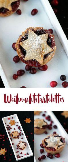 Weihnachtstartelettes mit Preiselbeeren backen - Rezepte für Weihnachten - Weihnachtsbäckerei