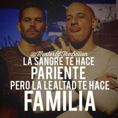 Etiqueta y comparte a esas personas que consideras tu familia @mentorofthebillion #familia #frases #lunes #motivación #inspiración #éxito #fastandfurious #rapidoyfurioso