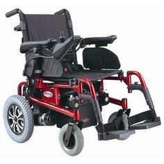 Burgundy colored Folding Power Chair