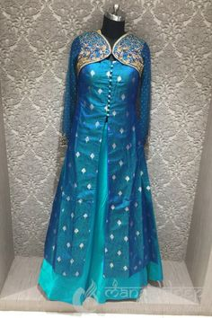 http://www.mangaldeep.co.in/lehengas/elegant-aqua-and-blue-in-readymade-designer-partywear-indowestern-suit-7906 For more information :- Call us @ +919377222211 (Whatsapp Available)