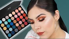 In this video, I'm using the new Morphe palette, this palette is an ULTA exclusive. I also didn't do my full face on camera today, I wanted to switch . Pretty Makeup, Love Makeup, Makeup Inspo, Makeup Looks, Fall Eyeshadow Looks, Blue Eyeshadow, Beauty Nails, Beauty Makeup, Morphe Palette