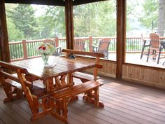 When planning your screen porch, consider how you will use it. You could use it as a summer dining room for food prepared in the kitchen or off the patio grill.
