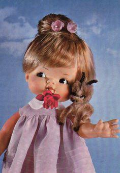 Vintage Doll Postcard  60's