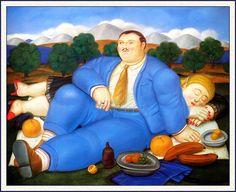 The Siesta - Fernando Botero - WikiArt.org