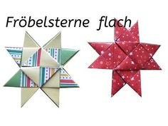 The flat Froebel star - variant 2 - tutorial, instructions - Froebel Stars Instructions: Simple Froebel Stars. Make stars Christmas decorations: fold poinsettia - Quilling Tutorial, Origami Tutorial, Christmas Decorations To Make, Christmas Crafts, Christmas Fashion, Christmas Trees, Fabric Crafts, Paper Crafts, Paper Quilling Designs