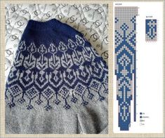 Fair Isle Knitting Patterns, Sweater Knitting Patterns, Knitting Charts, Knitting Stitches, Knitting Designs, Knit Patterns, Hand Knitting, Norwegian Knitting, Knitted Baby Cardigan