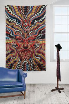 This astonishing wall hanging, tablecloth or bedspread features a bicycle day design in multiple colors. It is weaved with 100% cotton fabric. This tapestry is made of 100% Cotton fabric. Color fast a