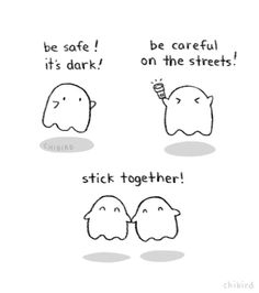 Happy Halloween! #chibird #cute #comic