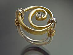 Ring | Sana Doumet. 18k gold, sterling silver and diamond.