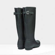 Hunter Back Adjustable Rain Boots  Might be too tall, worth trying on.