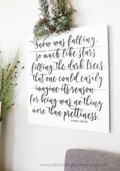 Happy Holidays: DIY Typographic Sign Tutorial   Tatertots and Jello   Bloglovin'