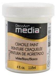 DECO ART MEDIA CRACKLE PAINT 4OZ WHITE DMM15
