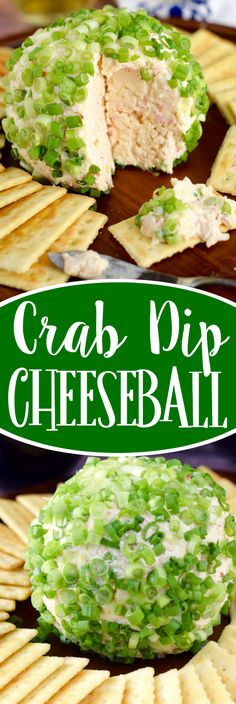 Crab Dip Cheeseball - So easy to throw together ahead of time, and is absolutely delicious! It's going to be the first thing gone on the appetizer table!
