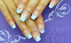 I'm not much of a squiggly dot nail design but I kind of like this one ... Nice color combo