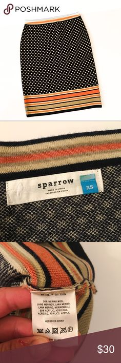 Anthropologie Sparrow Dot and Stripe Pencil Skirt This is a NWOT Anthropologie Sparrow Dot and Stripe Pencil Skirt. In excellent condition. Never worn. Anthropologie Skirts Pencil