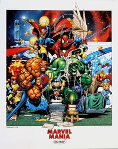 Marvel Mania poster by Chris Bachalo