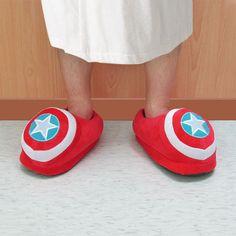 Captain America Plush Slippers