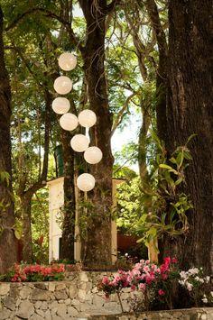 lanternas japonesas decoração