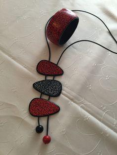 Polymer Beads, Polymer Clay Necklace, Polymer Clay Pendant, Polymer Clay Charms, Polymer Clay Art, Polymer Clay Projects, Polymer Clay Creations, Clay Design, Ceramic Jewelry