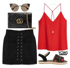 """""""#15 Yoins"""" by darianastasia ❤ liked on Polyvore featuring Gucci, MANGO, Fendi, coachella, yoins, yoinscollection and loveyoins"""