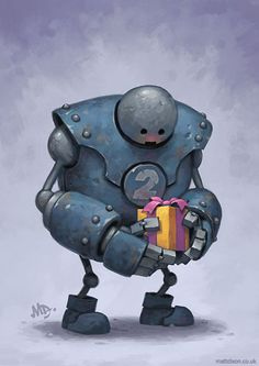 Lonely Robots Experiencing The Quiet Wonder Of The World ( Part 3 ) Where do they come from? My name is Matt Dixon. I've been painting the 'Transmissions' series of robot pictures Arte Robot, Robot Art, Robot Painting, Sketch Painting, Painting Process, Robot Picture, Mode Cyberpunk, Robots Drawing, Retro Robot