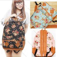 2015 Newly Girls Lady Vintage Cute Flower School Book Shoulder Bag Backpack Hot #Handmade #Backpack