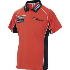 If you're looking to display your team pride this season, the Perth Scorchers 2015/16 Ladies Media Polo is the prefect go-to top this summer. This polo replicates the one worn by the team at media sessions during the season, and it features embroidered logos, button-up collar, and contrast-colour side panels.