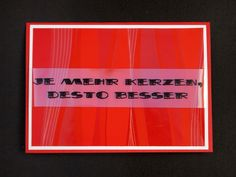 Birthday Card for man, red, german