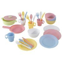Kidcraft 27 pc Cookware Playset - Pastel - Just $13.25! - http://www.pinchingyourpennies.com/kidcraft-27-pc-cookware-playset-pastel-just-13-59/ #Amazon, #Cookware, #Kidcraft, #Pinchingyourpennies, #Playset