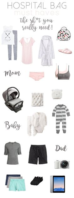 Hospital Bag Must Haves | What you should pack for labor | What you really need in your baby/birth hospital bag | checklist | necessities | must have items | what not to forget |